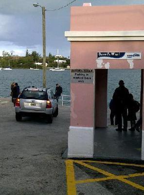 Leaving Darrell's Wharf